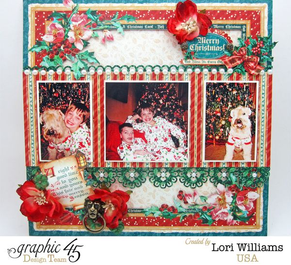 Christmas Carole Layout by Lori Williams using Graphic 45 Product Photo 1