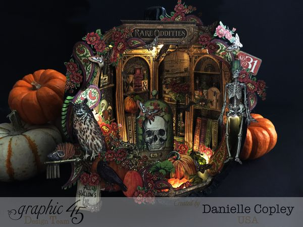Rare Oddities Pumpkin Shadow Box, Rare Oddities, by Danielle Copley, produc by Graphic 45, photo 3