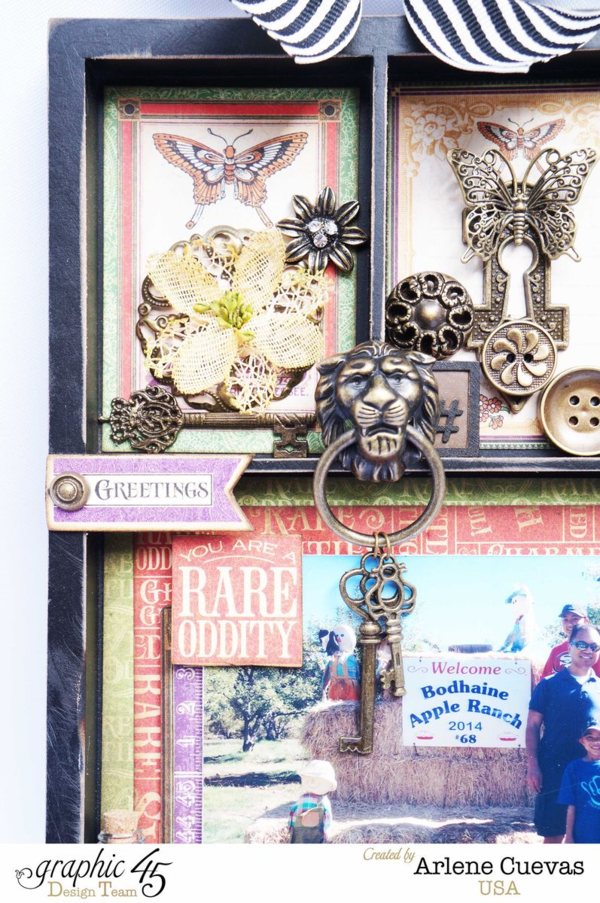 Fall Rare Oddities printer's tray by Arlene + video tutorial! #graphic45