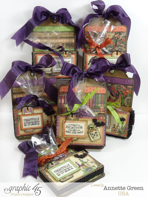 Rare Oddities Halloween Treat holders by Annette + video tutorial! #graphic45