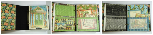 Make this Artisan Style Mixed Media Album with a free printable project sheet! #graphic45 #projectsheet #tutorials
