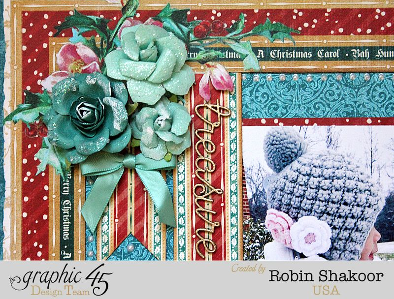 Treasure Layout, A Christmas Carol, by Robin Shakoor, Product by Graphic 45, Photo 3