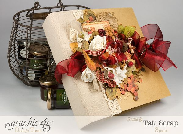 Tati, -Dreams Of Autumn- Recice Book, Mixed Media Album, Product by Graphic 45, Photo 3