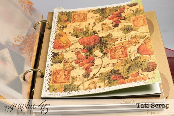 Tati, -Dreams Of Autumn- Recice Book, Mixed Media Album, Product by Graphic 45, Photo 14