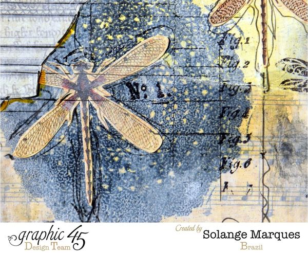 Art Journal pages by Solange Marques- Graphic 45 Botanicabella Deluxe Collector's Edition 1