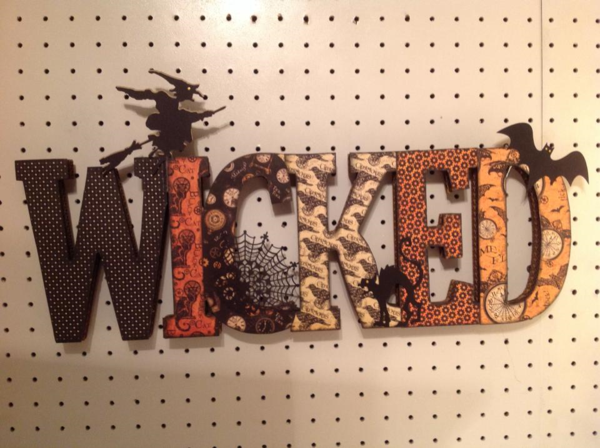 """Wicked"" Steampunk Spells Halloween sign by Cindy Bosnyak #graphic45"
