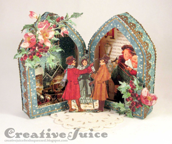 Lisa Hoel's A Christmas Carol home decor project #graphic45