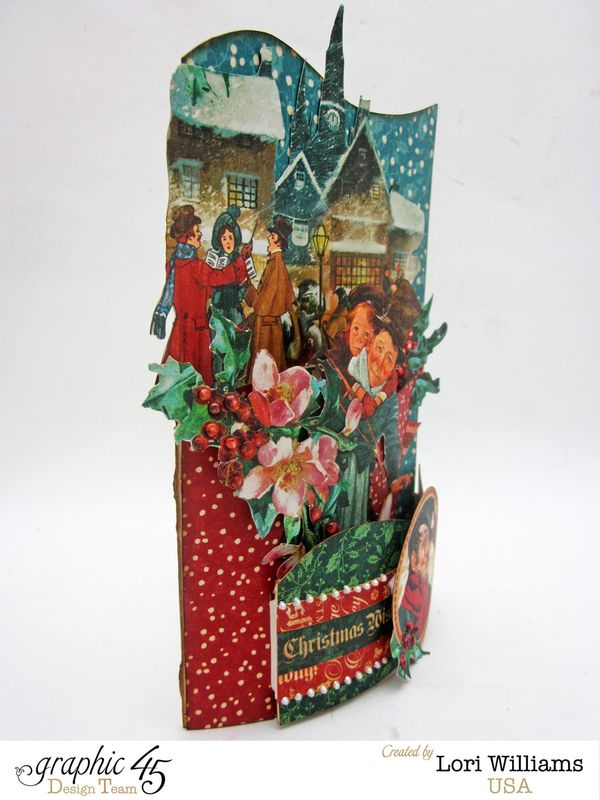 Lori Williams Designing for Graphic 45 Holiday Bendi Card with Tutorial using Christmas Carol Collection photo 2
