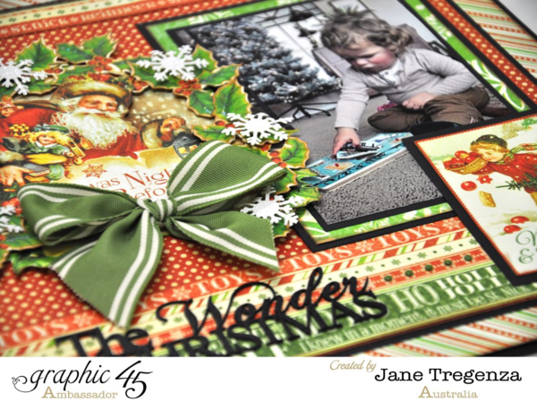 Wonder of Christmas Layout from Jane Tregenza using Twas the Night Before Christmas #graphic45