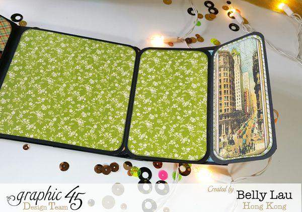 New Year Bar Cart Mini Album - Times Nouveau - Belly Lau - Graphic 45 - Photo 10