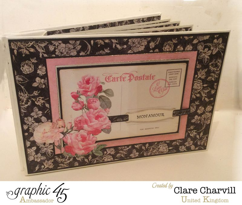 Mon Amour Post Bound Memory Book 1 Clare Charvill Graphic 45