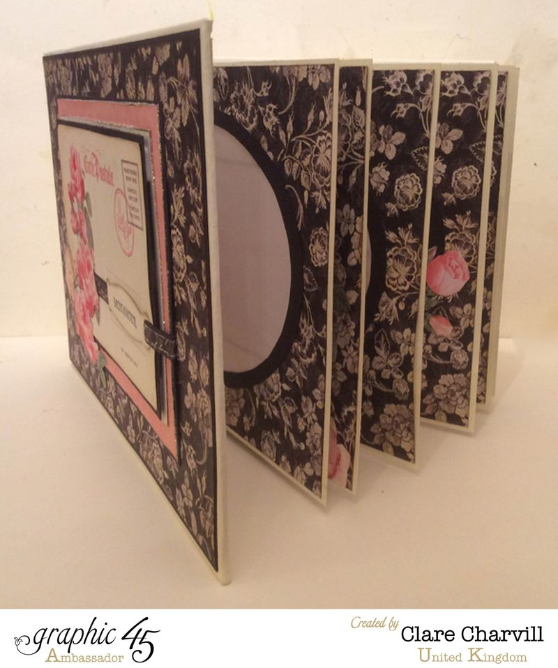 Mon Amour Post Bound Memory Book 2 Clare Charvill Graphic 45.
