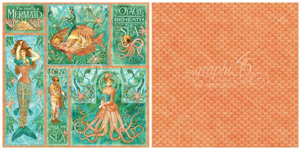 3 - Mermaid Melody, a new page from Voyage Beneath the Sea, a new 2016 Graphic 45 paper collection #sneakpeeks #graphic45