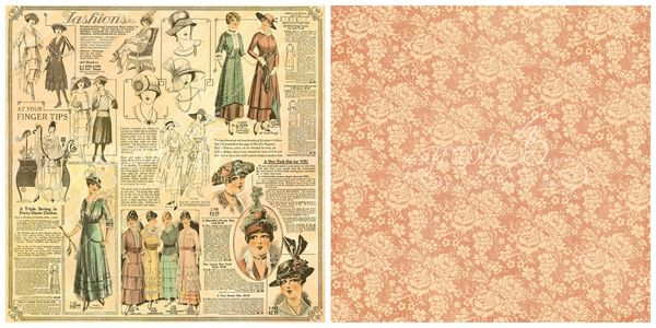 10 - La Gazette, a page from A Ladies' Diary, our newest 2016 Deluxe Collector's Edition from Graphic 45 #sneakpeeks #graphic45
