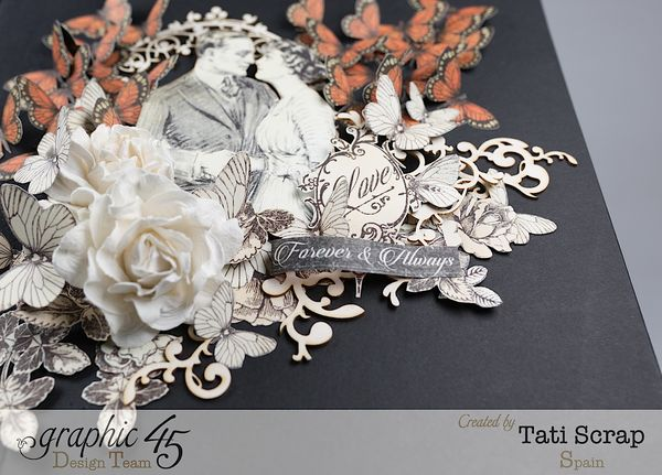 Tati, Mixed media Album, Mon Amour Collection, Product by Graphic 45, Photo 10