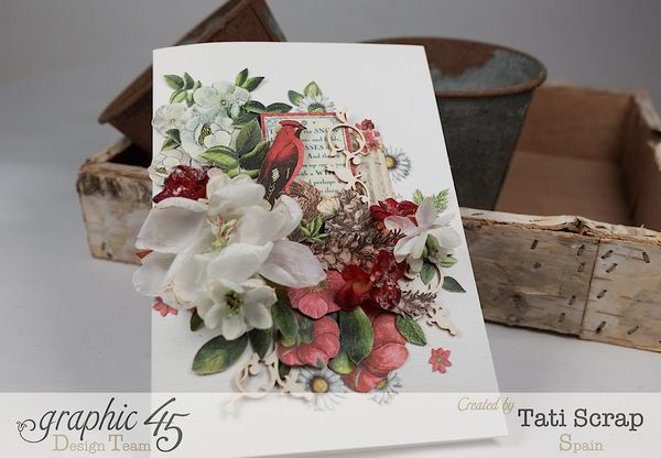 Tati, Card, Time to Flourish, Product by Graphic 45,Photo 1