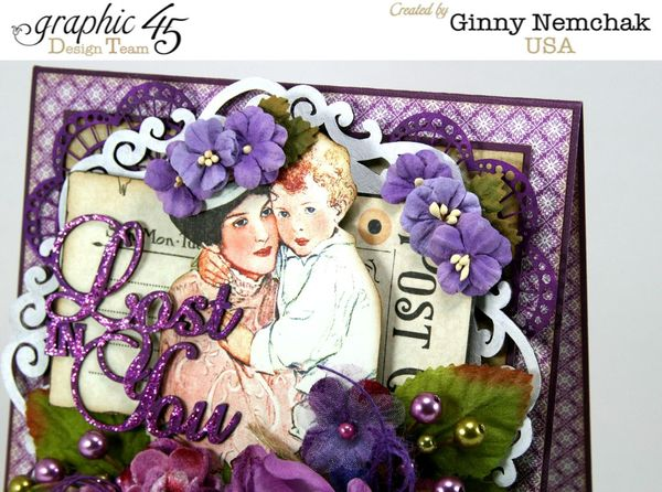 Children's Hour Petaloo Graphic45 Blog Hop Lost in You Greeting Card 1