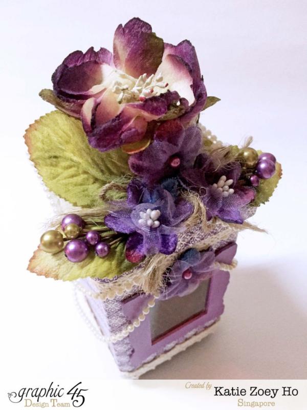 Katie Zoey Ho's beautiful fairy house using Children's Hour and Petaloo flowers #graphic45 #petaloo