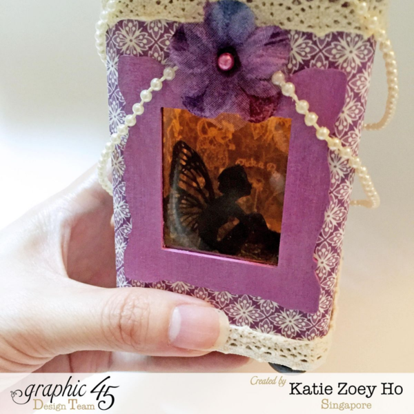 Katie Zoey Ho's beautiful fairy house using Children's Hour and Petaloo flowers #graphic45 #petaloo