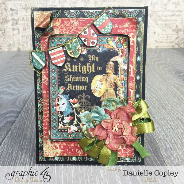 Valentine's Shining Knight Card, Enchanted Forest, tutorial, by Danielle Copley, Graphic 45 photo 2