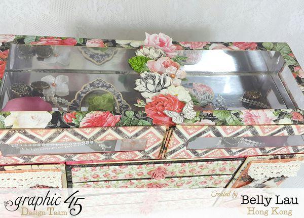Mon Amour Mini Dresser - Graphic 45 - Mon Amour - Belly Lau - Papercraft Buffet - Tutorial - Photo 10