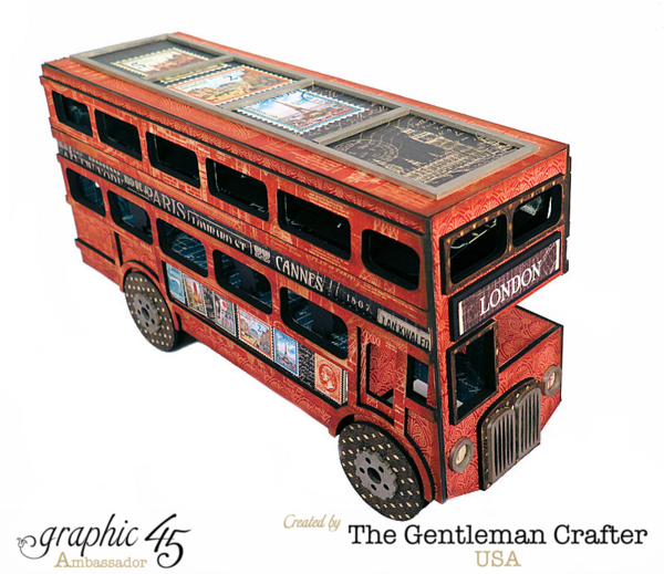 Cityscapes double decker bus made from scratch by Jim, the Gentleman Crafter #graphic45