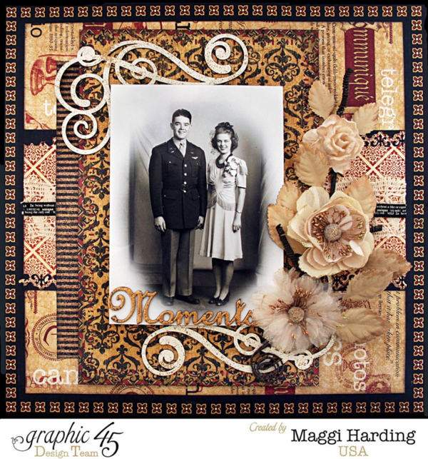 Moments Layout, Communique, Maggi Harding, Graphic 45