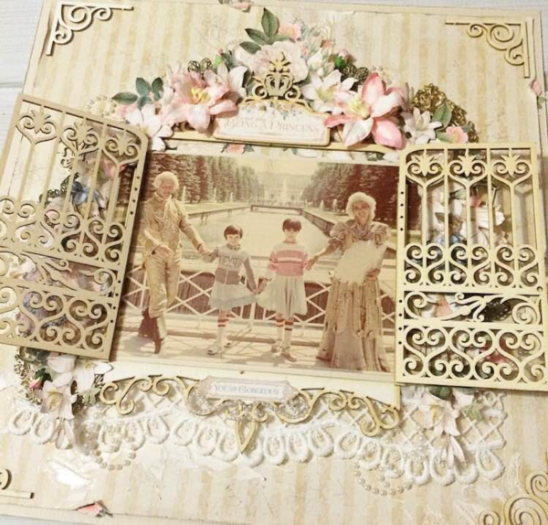 Gilded Lily scrapbook layout by @scrapclasskz #graphic45