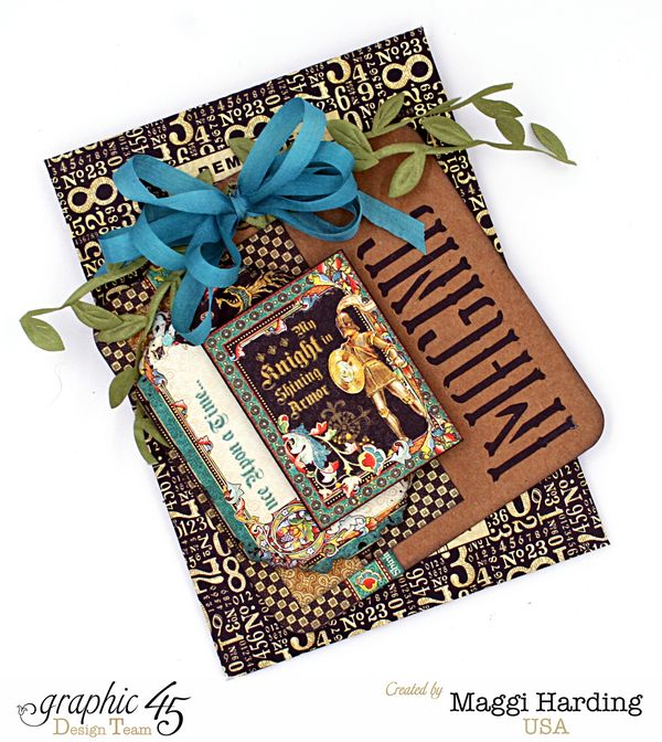 Mini _ Policy Envelope, Enchanted Forest, Maggi Harding, Graphic 45  (1)