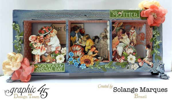 May Art Blog Hop- Window Shadow box by Solange Marques using G45 Children's Hour Collection- 3