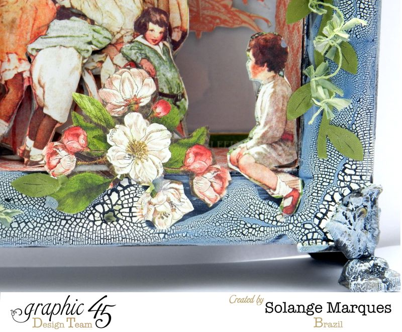May Art Blog Hop- Window Shadow box by Solange Marques using G45 Children's Hour Collection- 5