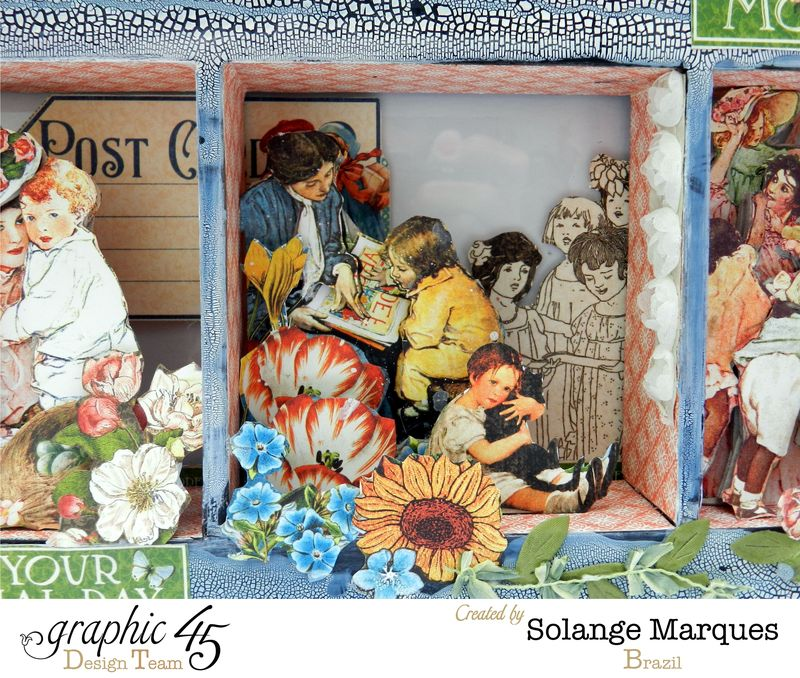 May Art Blog Hop- Window Shadow box by Solange Marques using G45 Children's Hour Collection- 7