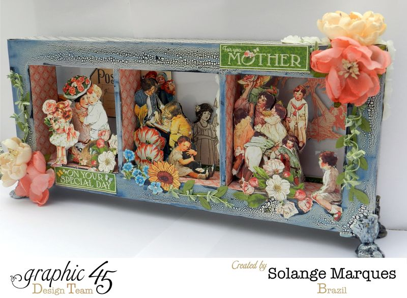 May Art Blog Hop- Window Shadow box by Solange Marques using G45 Children's Hour Collection- 9