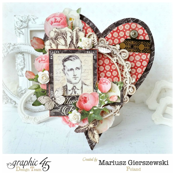 """G45 Valentines RETIRED! Graphic 45 Pad /""""Mon Amour/"""" 8x8 Pad Love"""
