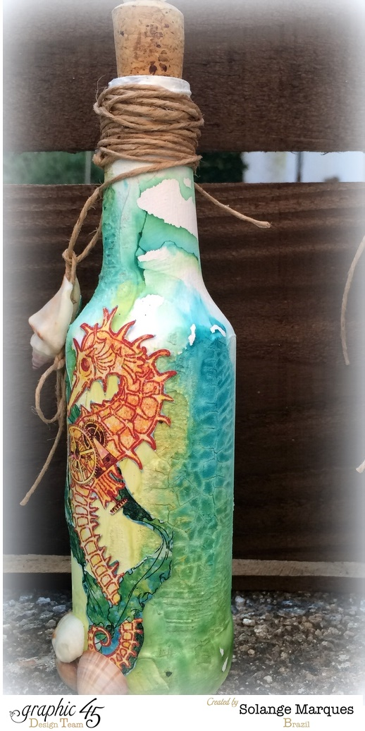 Altered Bottle by Solange Marques with G45 Voyage Beneath The Sea-1