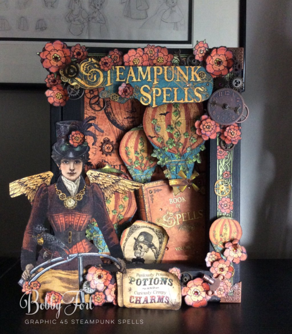 @bobbyparis Steampunk Spells shadowbox #graphic45