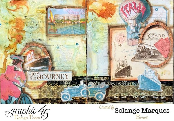 Art Journal by Solange Marques with Graphic 45 1.