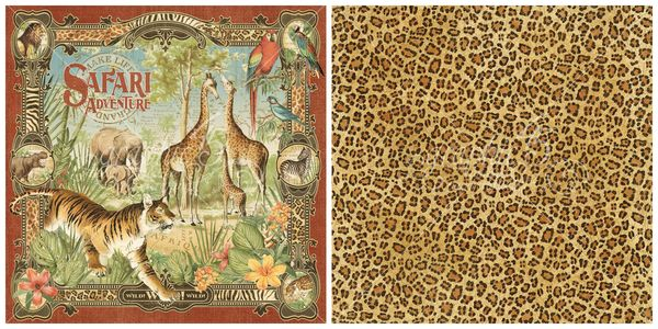 1 - Safari Adventure, the signature page from Safari Adventure, a new collection from Graphic 45