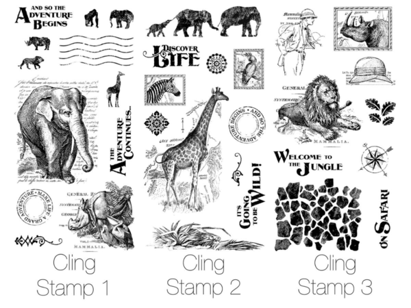 Hampton Art Cling Stamps with G45 Safari Adventure! #graphic45 #sneakpeeks