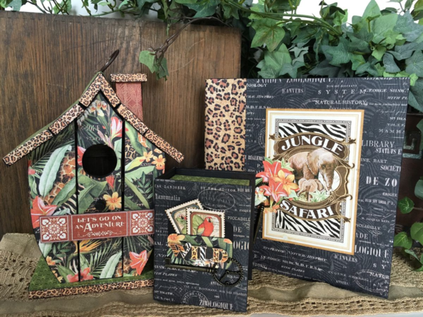 Safari Adventure projects from Diane's workshop! So excited about this incredible collection #graphic45