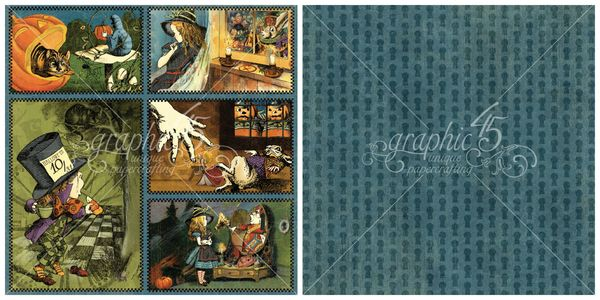 5 - Through the Looking Glass from Hallowe'en in Wonderland, our new Deluxe Collector's Edition #graphic45