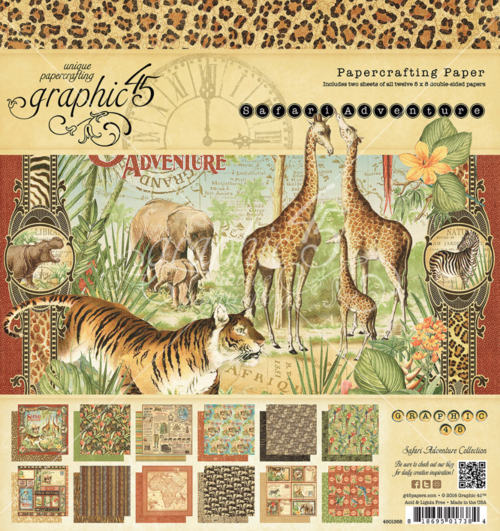 Safari Adventure 8x8 Paper Pad #graphic45