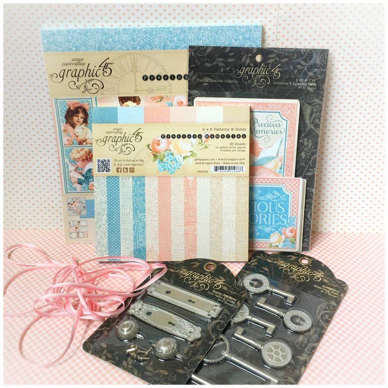 $35+  Precious Memories, (new) Staples and bonus May Arts Ribbon-2