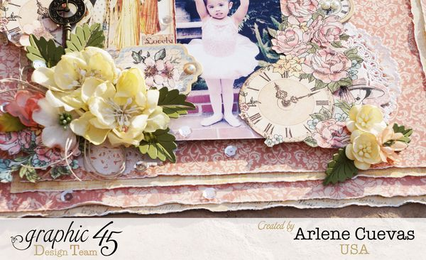 Layout, A Ladies Diary, Arlene Cuevas, Product by Graphic 45, Photo1