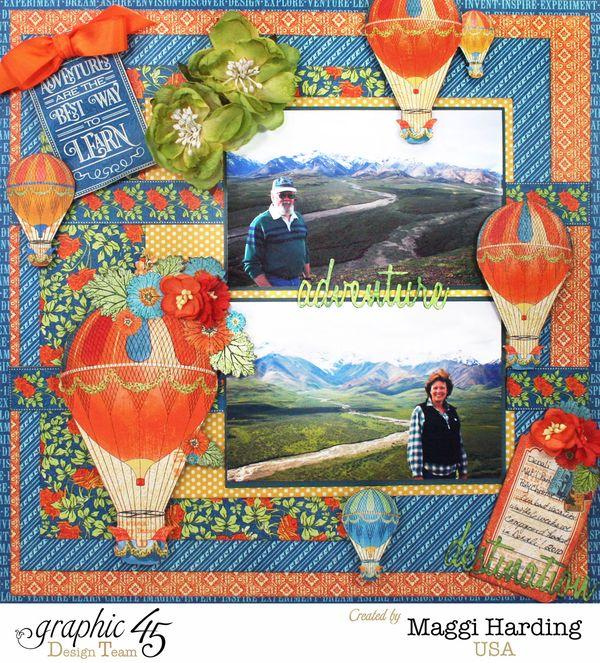 Adventure layout, Worlds Fair, Maggi Harding, Graphic 45 (1)