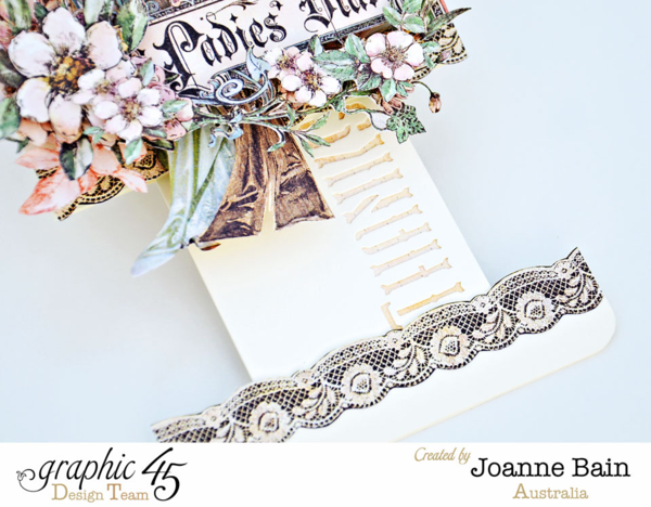A Ladies' Diary pull-out tag and tutorial by Joanne #graphic45