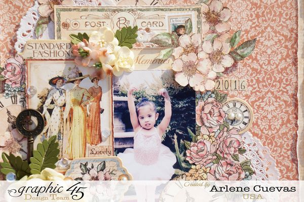 Copy of Layout, A Ladies Diary, Arlene Cuevas, Product by Graphic 45, Photo1