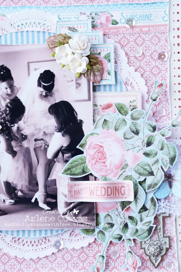 Wedding Layout_TimeToFlourish_ArleneCuevas_Graphic45_Photo1
