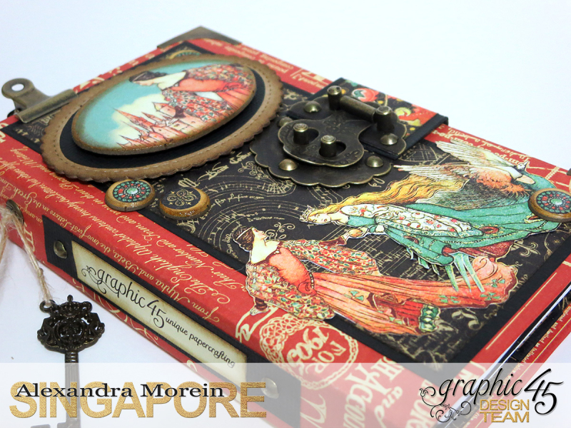 Desk Stationery Organizer, Enchanted Forest, Tutorial by Alexandra Morein, Product by Graphic 45, Photo 10