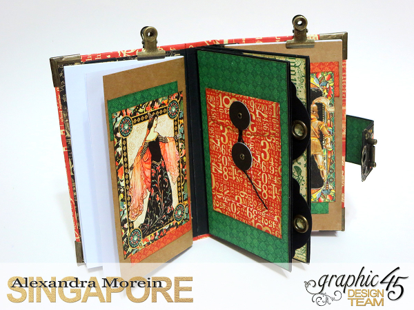 Desk Stationery Organizer, Enchanted Forest, Tutorial by Alexandra Morein, Product by Graphic 45, Photo 1